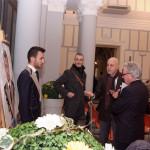 4 Lello antonelli e Sebastiano Di Rienzo - presidente A N S - ammirano l'opera dipinta dal maestro Carlo Alberto Palumbo