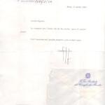 Lettera dell'Onorevole Gianfranco Fini alla sartoria antonelli Sartoria Napoletana, artigiano, sarto, sartoria antonelli, sartoria artigianale, artigianato napoletano, napoli