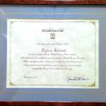 Riconoscimento della British Corner Club sartoria antonelli Sartoria Napoletana, artigiano, sarto, sartoria antonelli, sartoria artigianale, artigianato napoletano, napoli