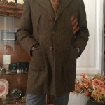 Giaccone lana Shetland marrone sartoria napoletana Sartoria Napoletana, artigiano, sarto, sartoria antonelli, sartoria artigianale, artigianato napoletano, napoli
