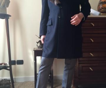 Cappotto monopetto cachemire blu