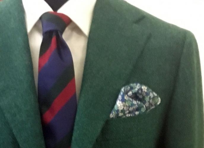 Giacca lana shetland verde